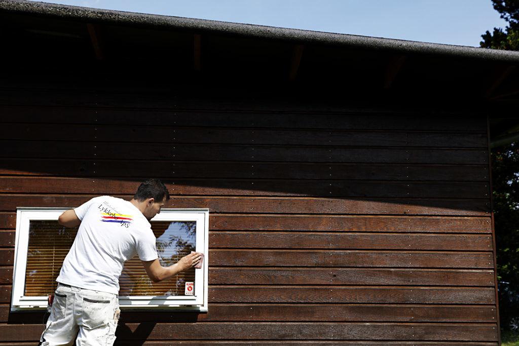 klargøring af vindue til maling